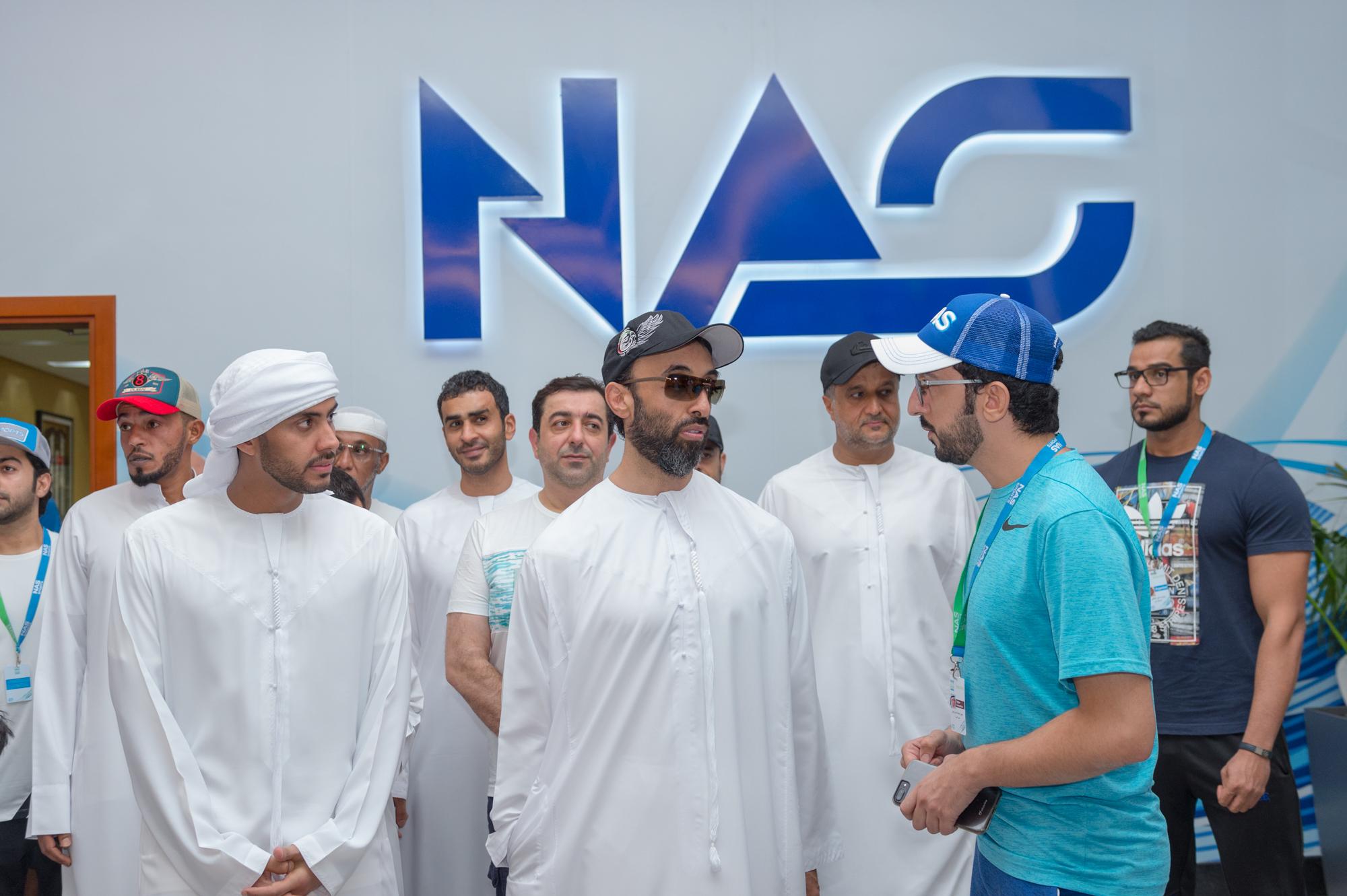 حمدان بن محمد يشهد منافسات دورة ند الشبا الرياضية
