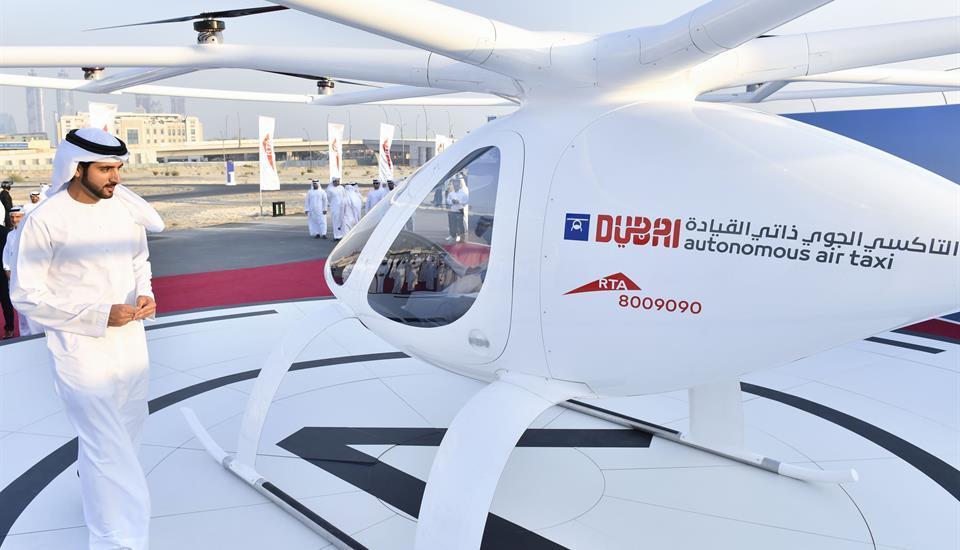 Hamdan bin Mohammed witnesses the first test flight