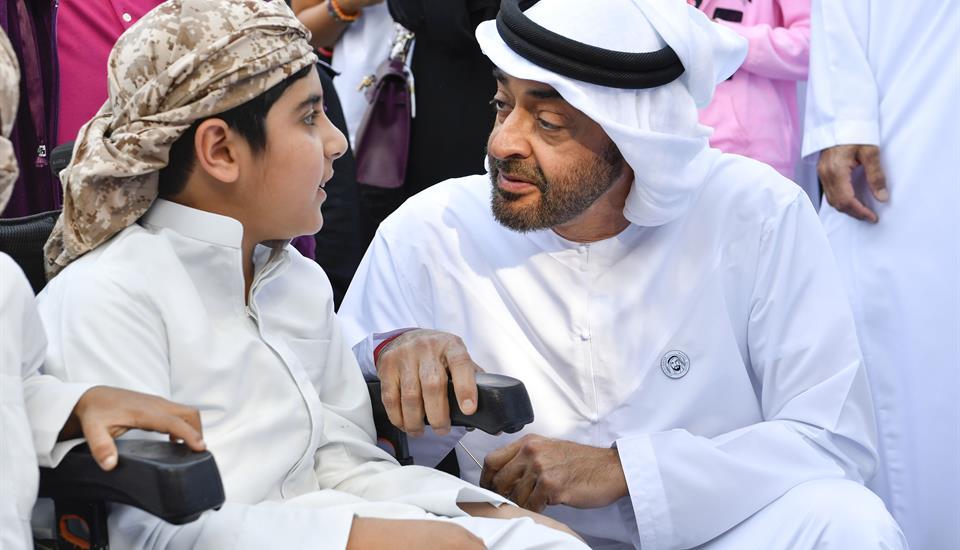 719651337 محمد بن زايد وحمدان بن محمد يشاركان في مبادرة