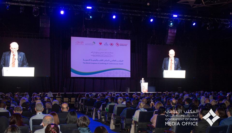 حمدان بن محمد يشهد انطلاق أعمال مؤتمر القلب العالمي