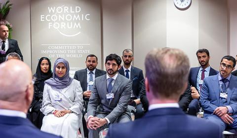 حمدان بن محمد يشهد افتتاح أعمال المنتدى الاقتصادي العالمي في سويسرا