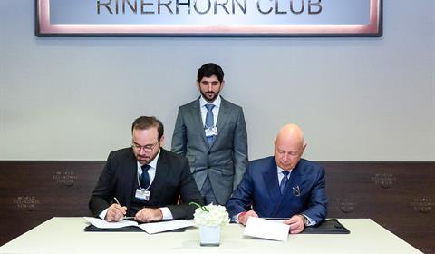 حمدان بن محمد يشهد توقيع اتفاقية تأسيس مركز الثورة الصناعية الرابعة بدولة الإمارات