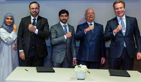 """حمدان بن محمد يدعم الأولمبياد الخاص في أبوظبي من """"دافوس"""""""