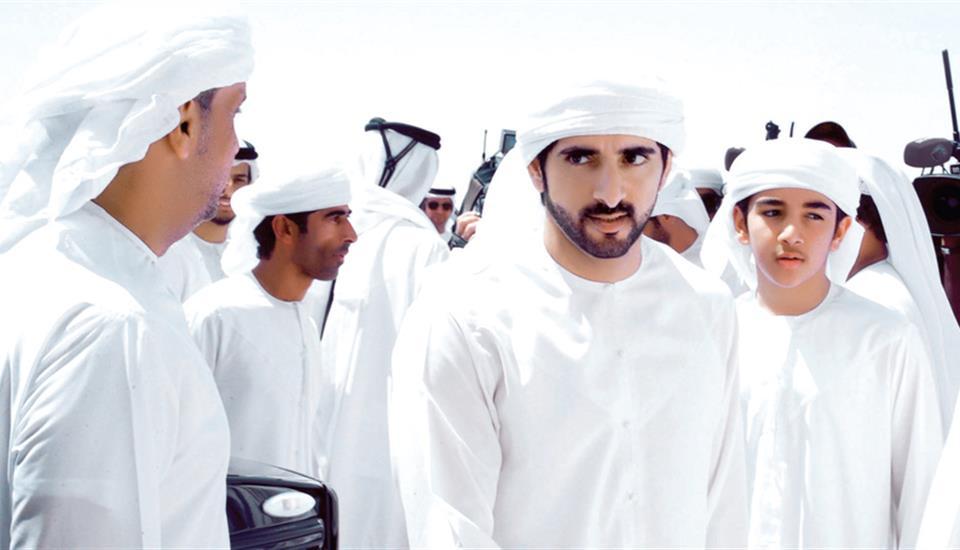 """حمدان بن محمد يشهد تألق هجن العاصفة في """"ختامي المرموم"""""""