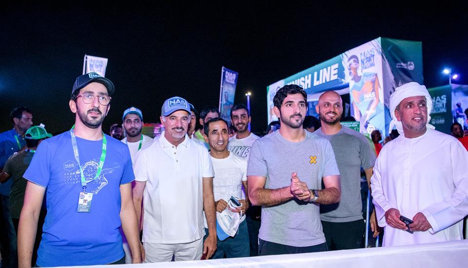 """حمدان بن محمد يشهد بطولة """"تحدي ناس الليلي"""""""