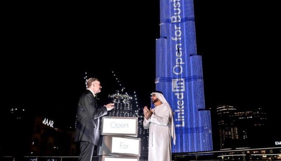 """تصريح حمدان بن محمد بمناسبة إطلاق """"لينكد إن"""" خاصية جديدة من دبي"""