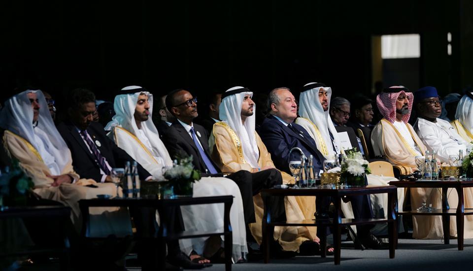 محمد بن زايد وحمدان بن محمد يشهدان افتتاح اسبوع أبوظبي للاستدامة 2020