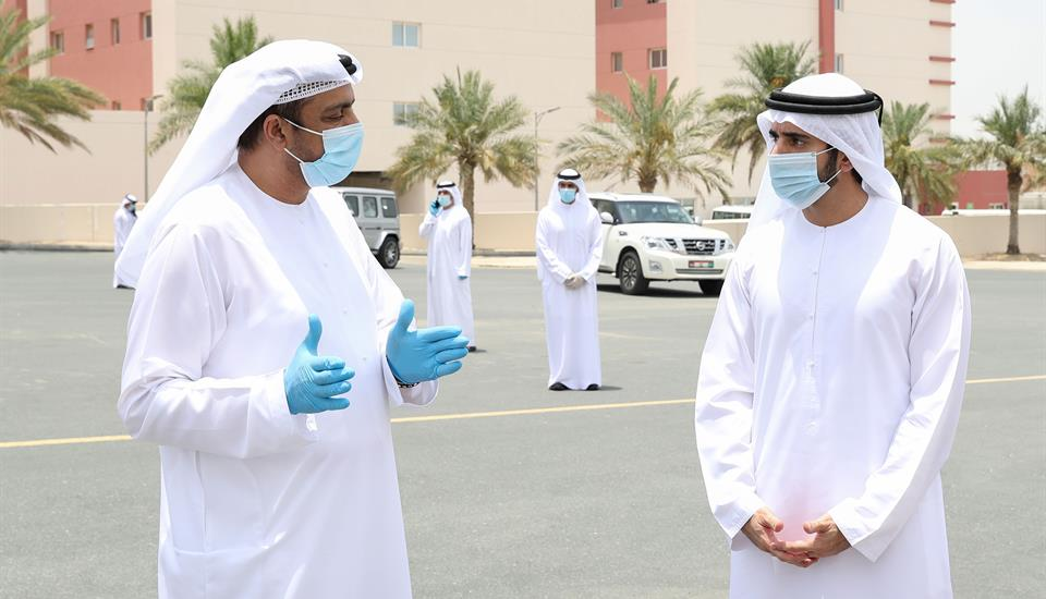 Hamdan bin Mohammed visits security and service departments and meets with personnel on duty during Eid
