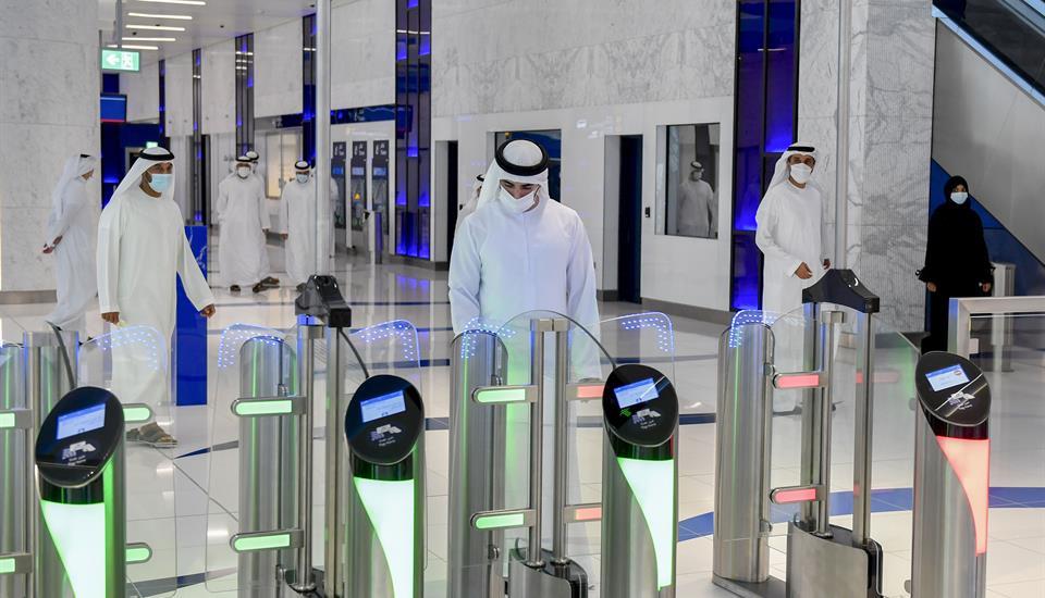 "حمدان بن محمد: ""مترو دبي قصة نجاح حققتها دبي برؤية محمد بن راشد"""