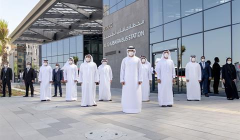 حمدان بن محمد يدشن الجيل الجديد من محطات الحافلات في الغبيبة