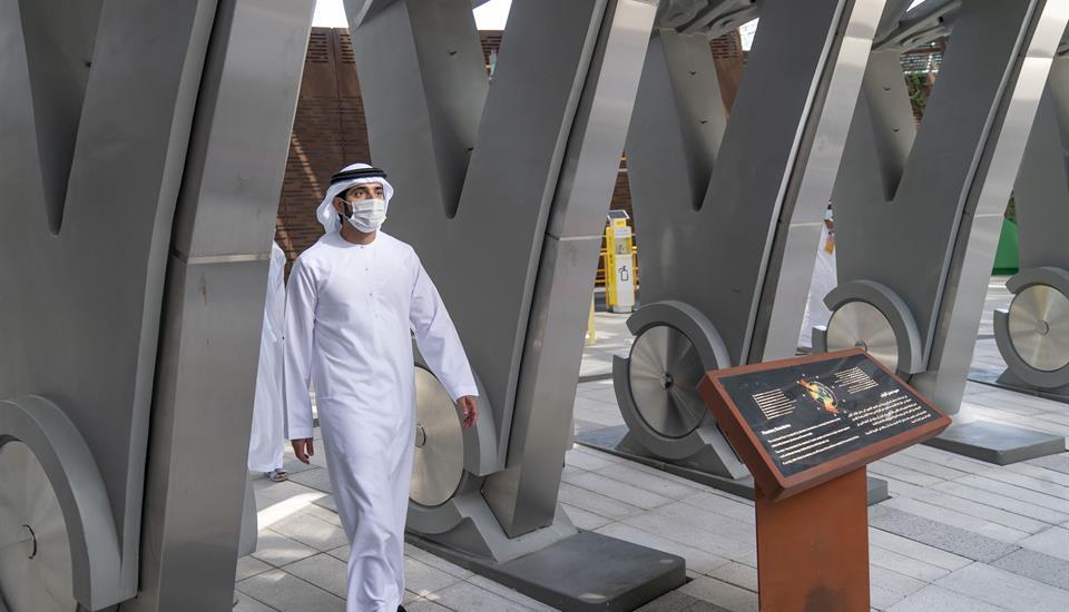 الشيخ حمدان الأخبار - حمدان بن محمد يزور موقع أكسبو 2020 دبي ويطلع على استعدادات استضافة الحدث الدولي الكبير