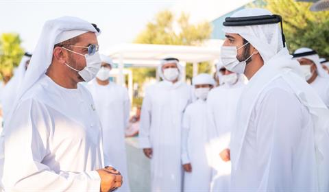 حمدان بن محمد بن راشد يلتقى حمدان بن زايد في دبي